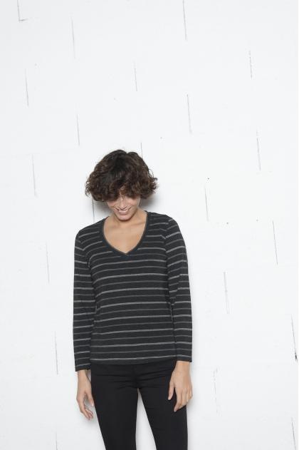 Tee shirt Jersey rayure fantaisie stretch 96% VISCOSE 4% ELASTHANNE