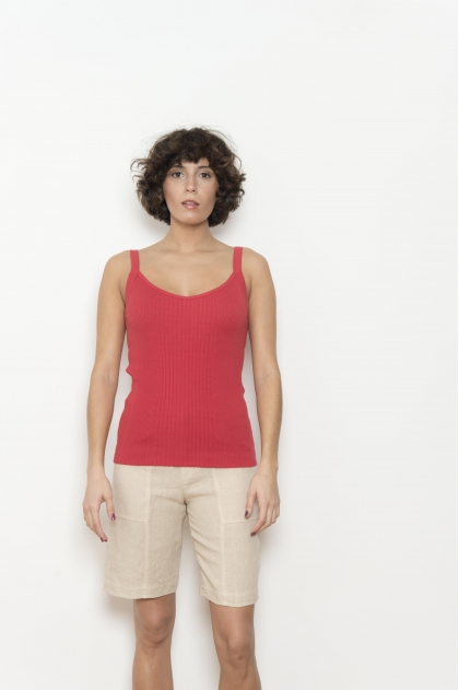 100% cotton richelieu knit tank top