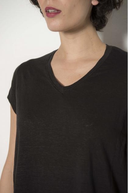Linen Jersey Tee shirt 92% LIN 8% ELASTANE