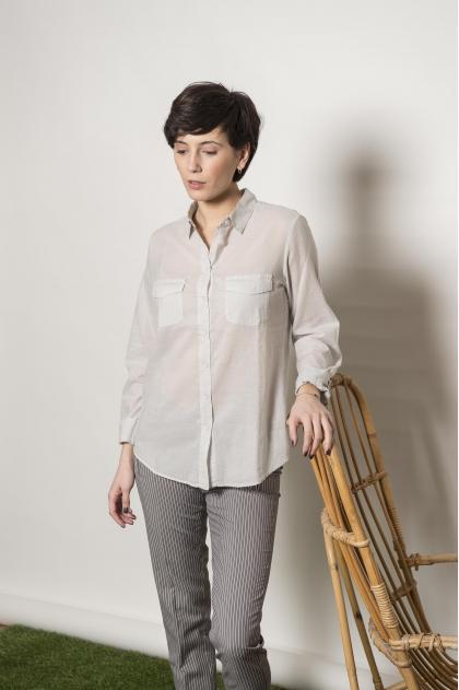 "100% COTTON ""Jersey Plume"" shirt"