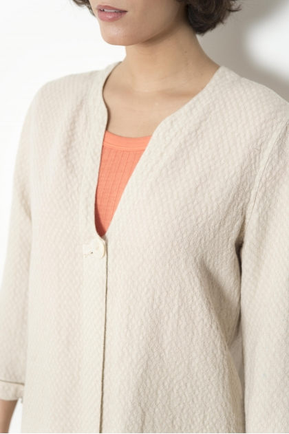 Fancy weave jacket 50% LINEN 50% VISCOSE