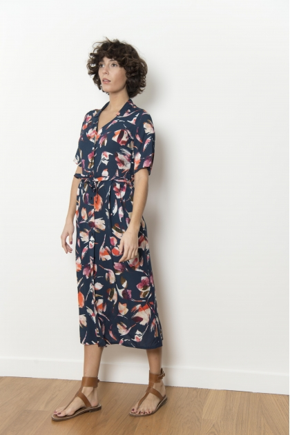 100% VISCOSE printed dress