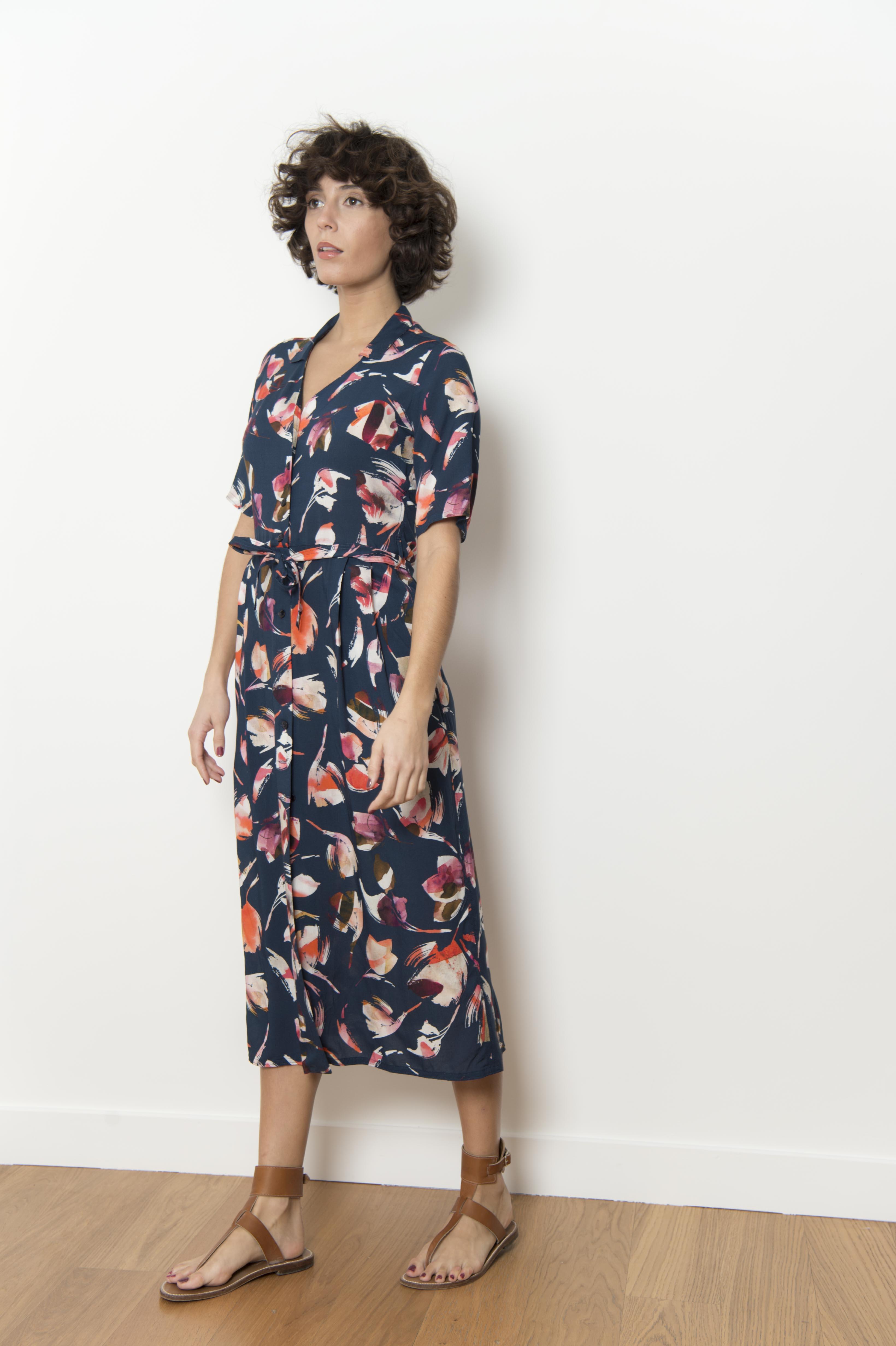 100% VISCOSE printed dress