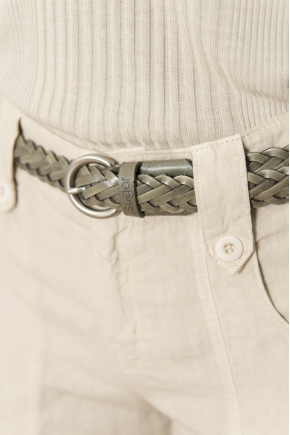 "Braided belt ""6 strands"" 100% genuine leather"
