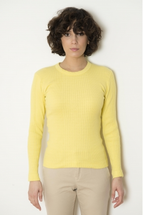 T-shirt long sleeve Richelieu ribbed 100% cotton