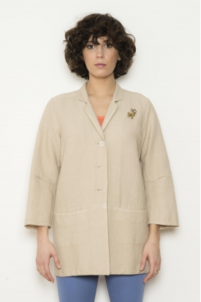 Jacket Handles 3/4 48% Flax 38% Viscose 14% cotton