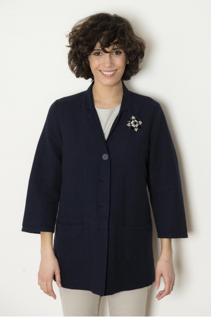 Jacket Handles 3/4 48% Flax 38% Viscose 14% cotton