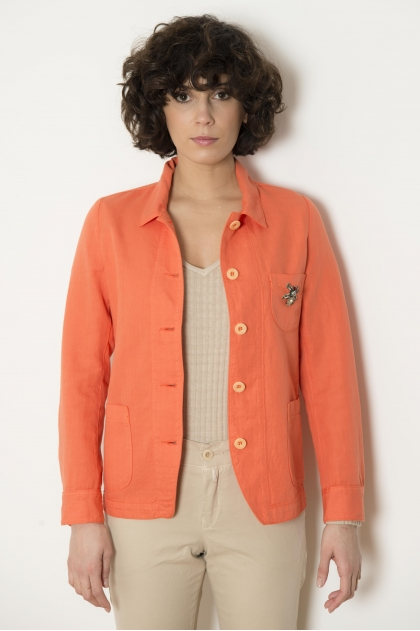 Shirt jacket 60% COTTON 40% LIN