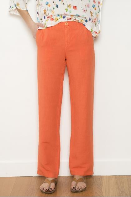 Pantalon 50% lin 50% viscose