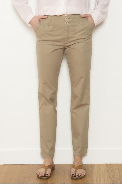 Pantalon gabardine émerisée 100% coton