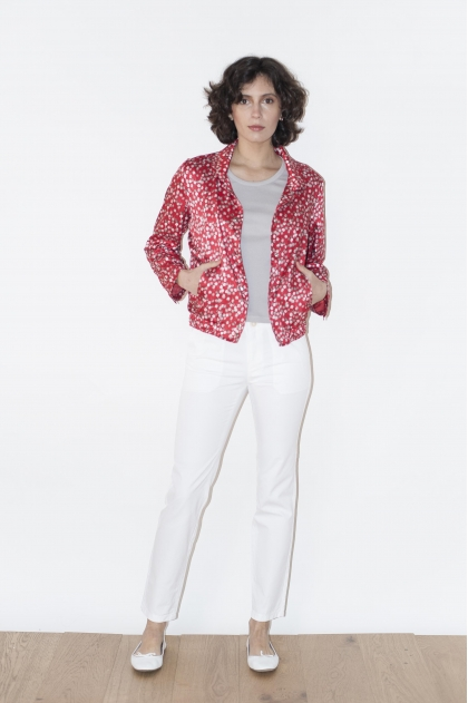 Printed jacket 100% POLYESTER