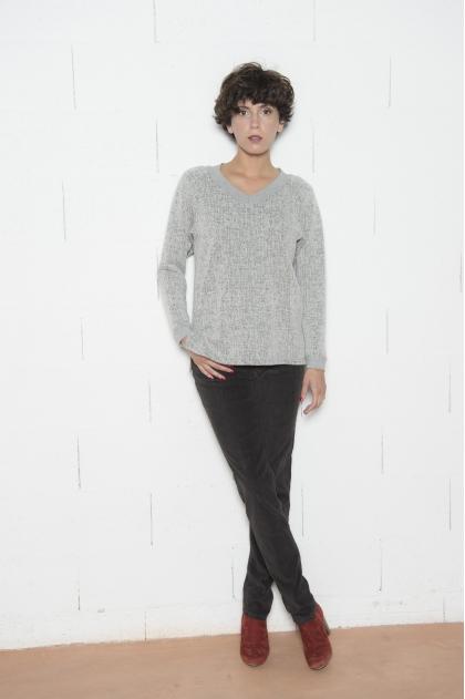 Pantalon velours côtelés « flammé » strech 82% coton 18% élastomultiester
