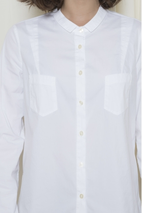 Stretch poplin shirt 78% cotton 18% polyamide 4% elastane