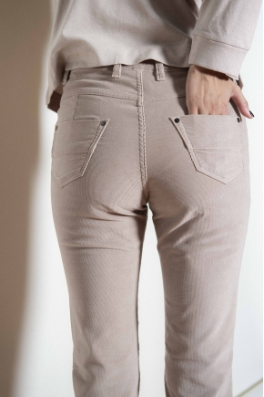 5-pocket trousers in velvet elastomer 82% cotton 18% elastomultiester