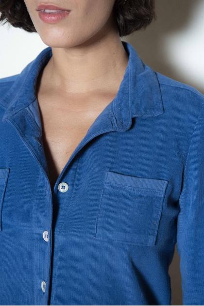 Chemise velours fines côtes 100% coton