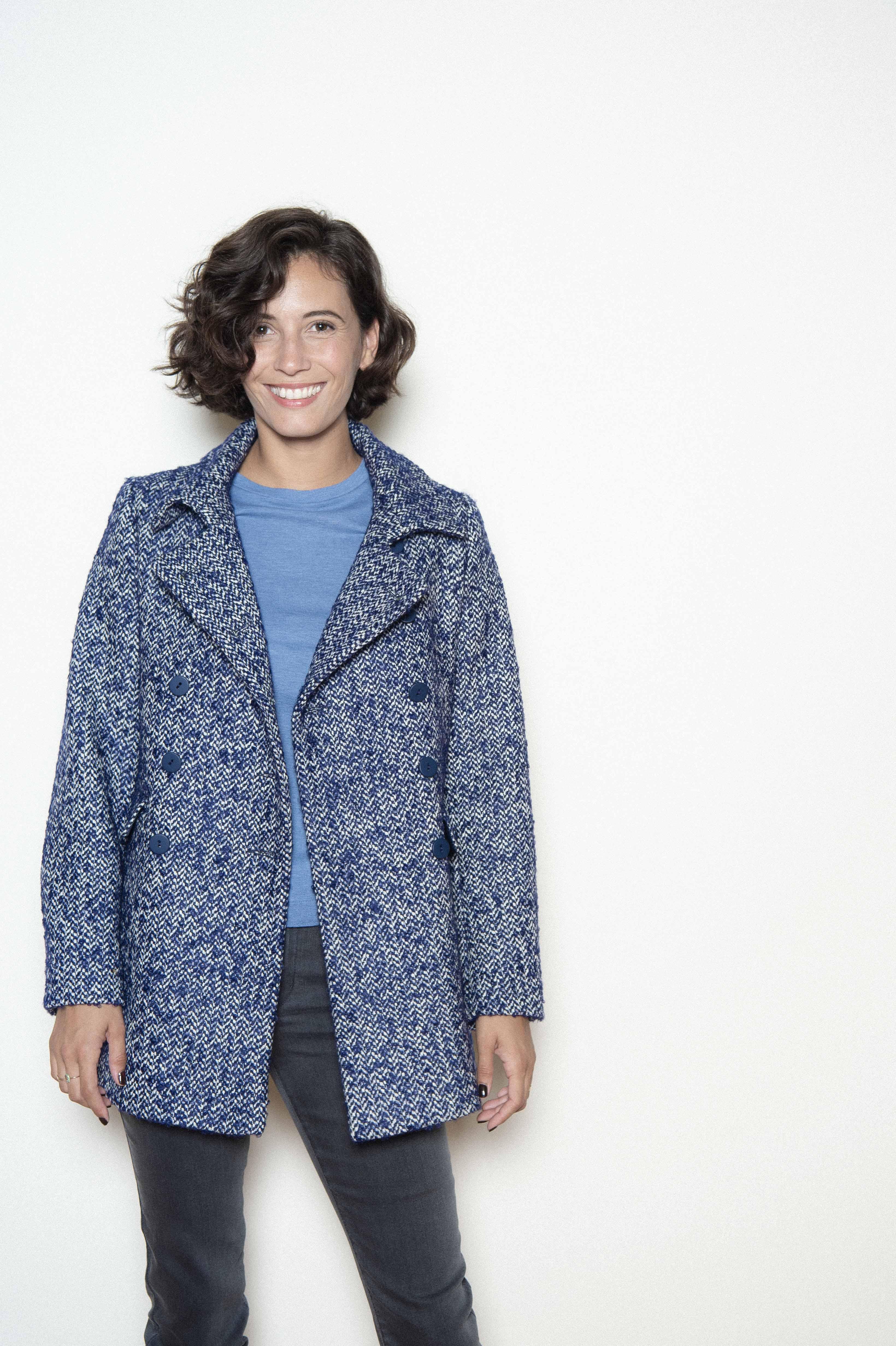 """Chevron"" woolen jacket 62% virgin wool 8% mohair 18% acrylic 12% polyeste"