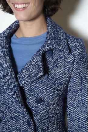 Veste lainage à Chevrons 62% laine vierge 8% mohair 18% acrylique 12% polyester