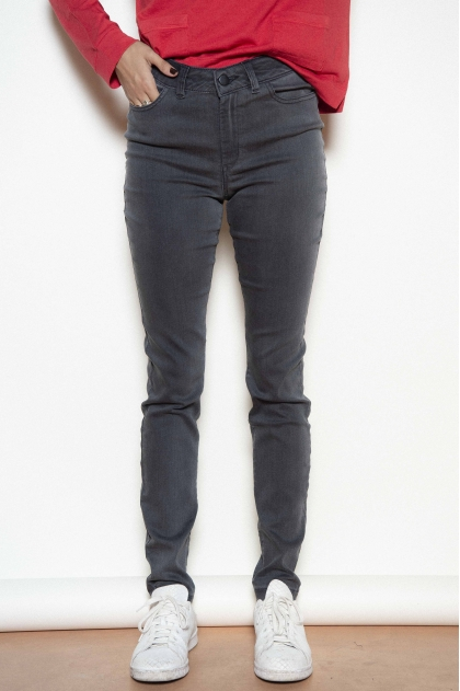 Faded denim trousers 50% cotton 32% cupro 16% polyester 2% elastane