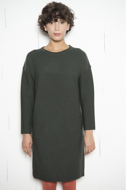 Sweater dress 100% merino virgin wool