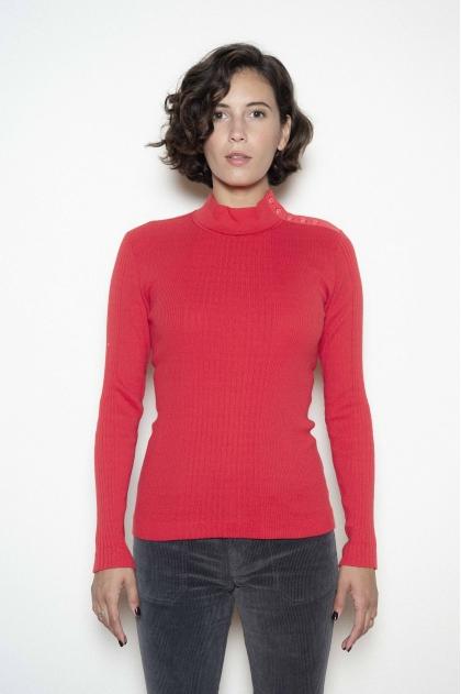 """Richelieu"" ribbed Tee-shirt 100% cotton"