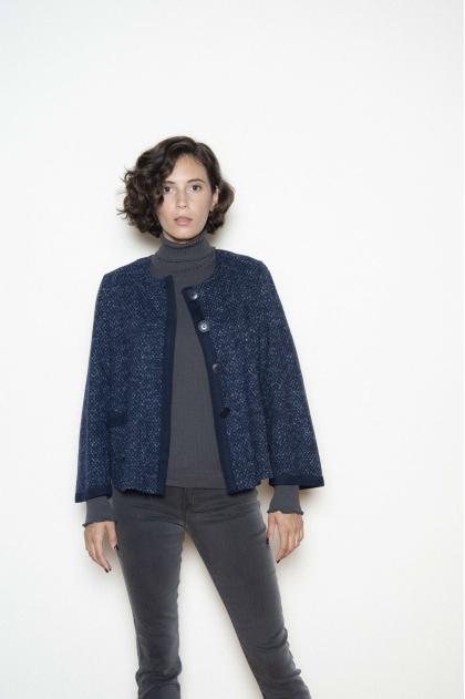 Gilet maille lainage 65% laine 28% polyamide 4% autres fibres 3% viscose