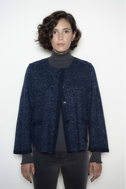 Vest 65% wool 28% polyamide 4% other fibers 3% viscose