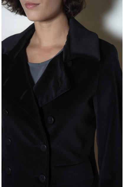 Veste velours uni stretch 74% coton 27% polyester 7% viscose 2% élasthanne