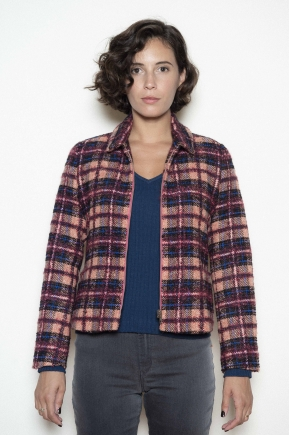 Jacket 25% mohair 15% wool 14% cotton 13% polyester 12% polyamide 9% alpaca 8% silk 4% angora14% cotton 13% polyester 12% polyam