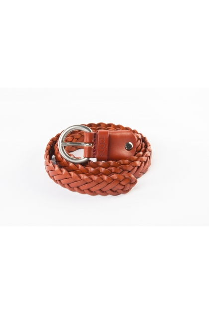 "Braided belt ""6 brins"" 100% real leather"