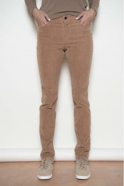 5-pocket trousers in velvet elastomer 82% cotton 18% elastomultiester