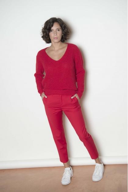 Pantalon 72% polyester 26% viscose 2% élasthanne