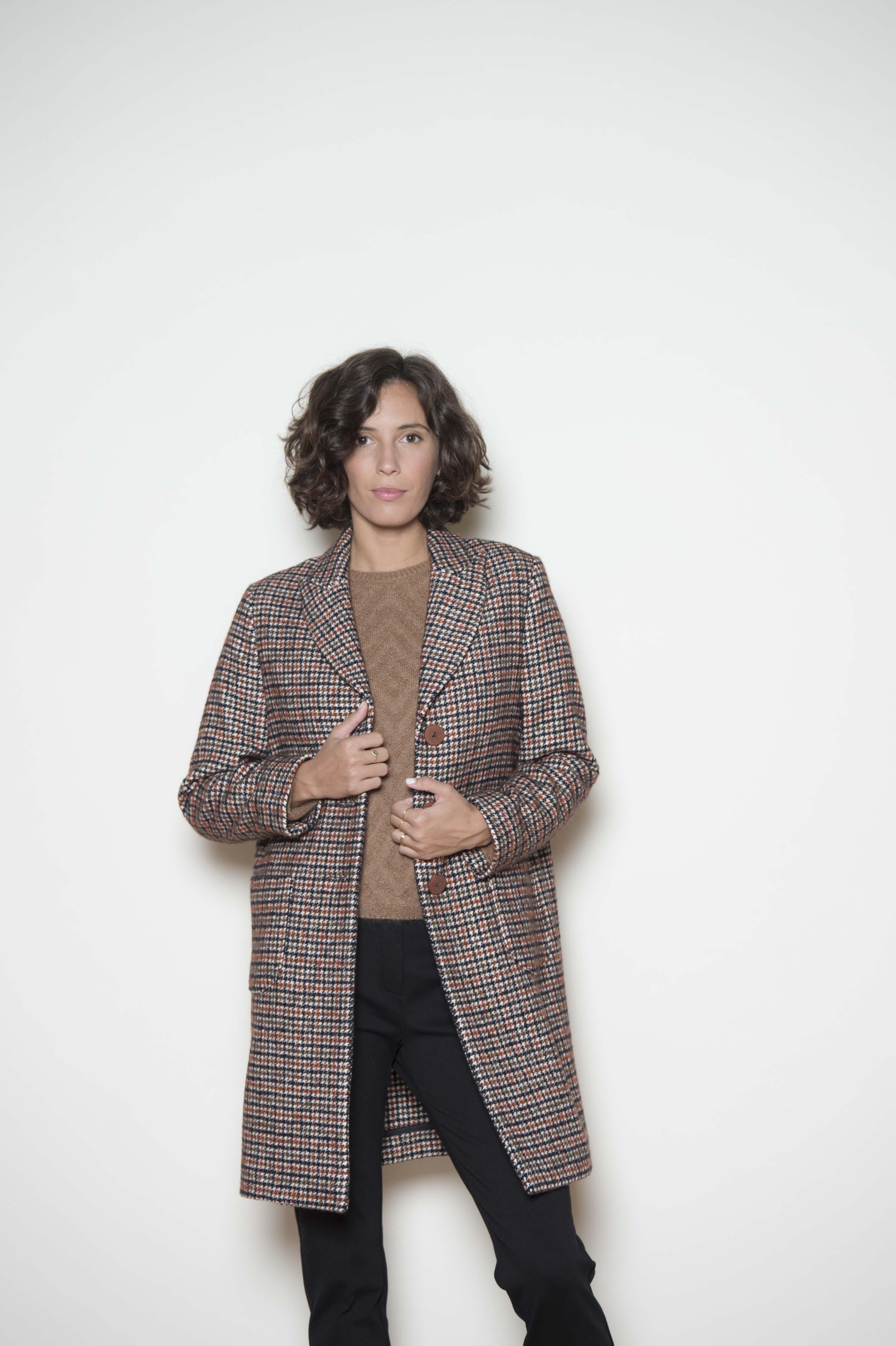 Coat 43% cotton 34% virgin wool 23% polyamide