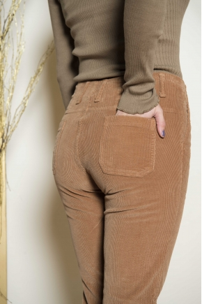Ribbed corduroy trousers 100% cotton