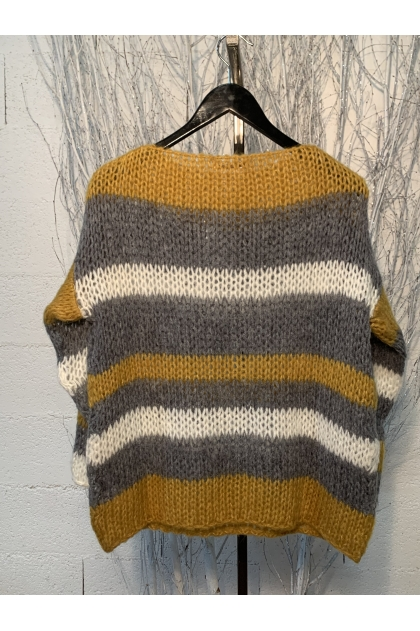 Sweater 42% Polyamide 30% Polyester 14% Mohair 14% Wool