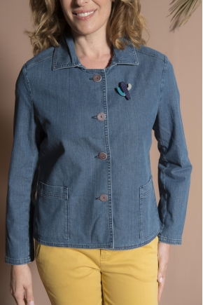Jacket 100% cotton denim
