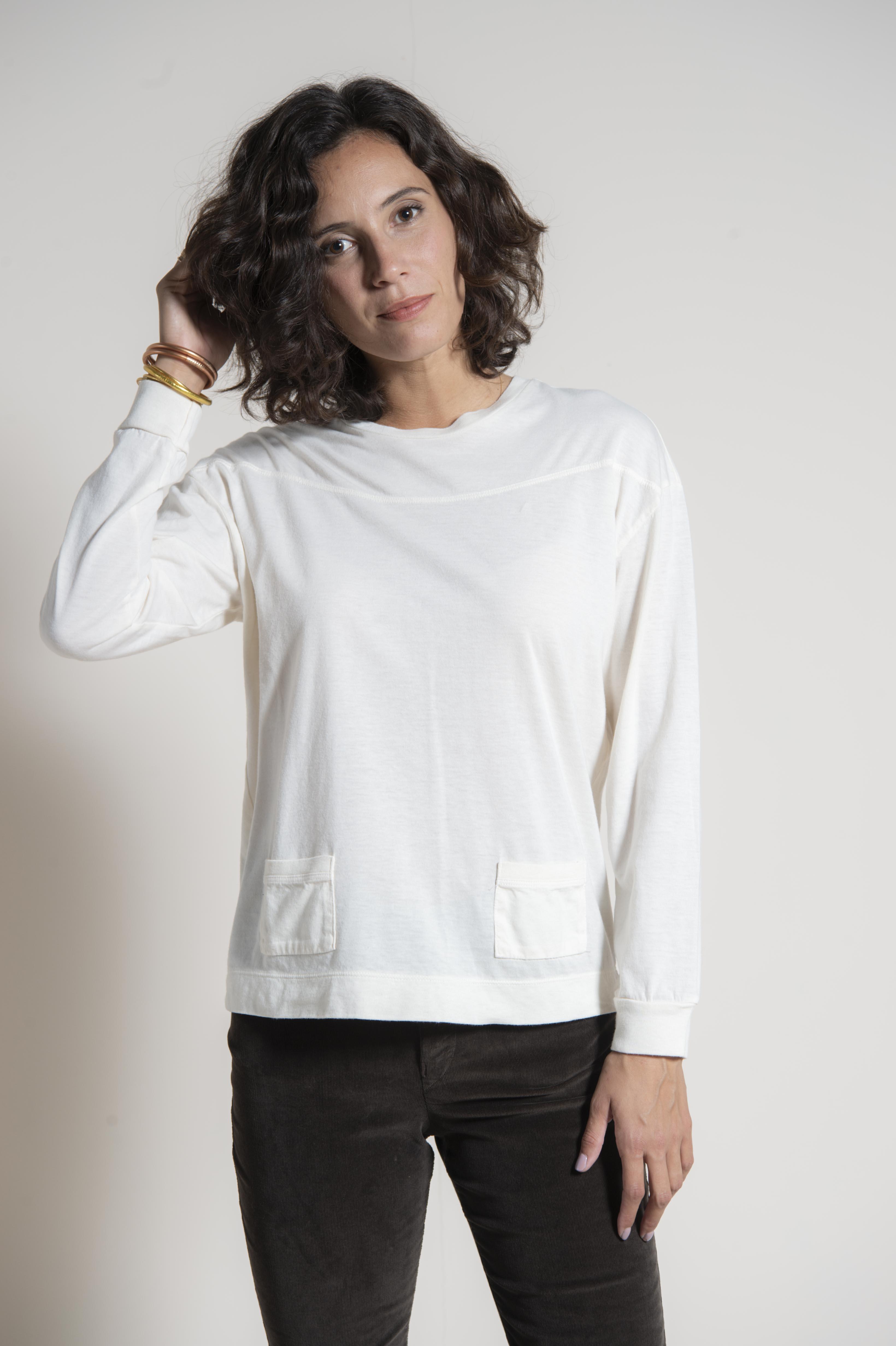 85% cotton 15% cashmere jersey t-shirt
