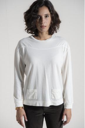Tee shirt marinière jersey cachemire 85% coton 15% cachemire