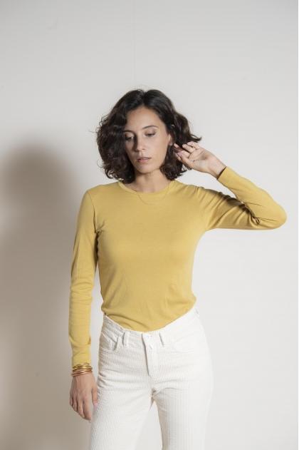 T-shirt rib 1/1 50% cotton 20% polyamide