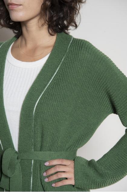 Knitted cardigan 100% extra fine merino wool