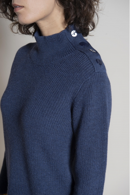 Knit sailor sweater 100% extra fine merino wool
