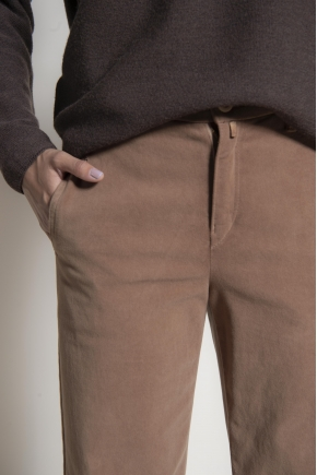 Suede bridge pants 83% cotton 17% elastane