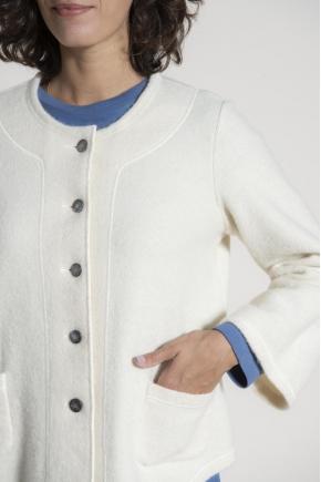Gilet laine bouillie 64% laine 36% coton