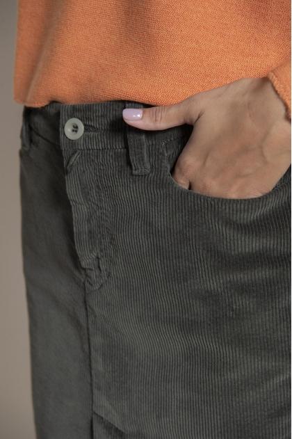 Jupe 5 poches velours fluide côtelé 100% coton