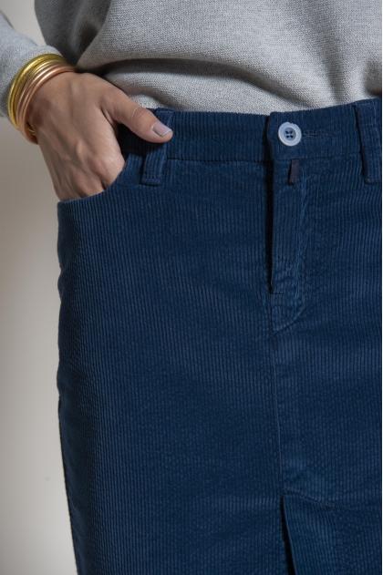 Skirt 5 pockets corduroy 100% cotton