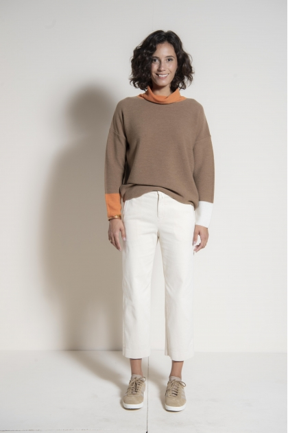Suede bridge pants 83% cotton 17% elastane