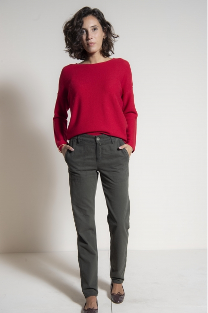 Pantalon 60% coton 25% viscose 15% polyester