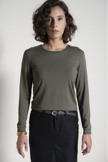 Jersey t-shirt 96% viscose 4% elastane