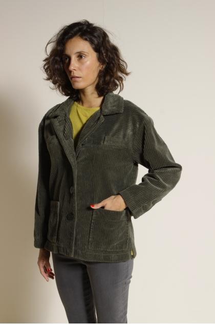 100% cotton ribbed velvet jacket