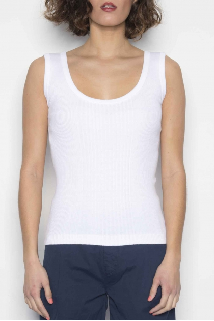 Tank top 100% cotton Oxford knit