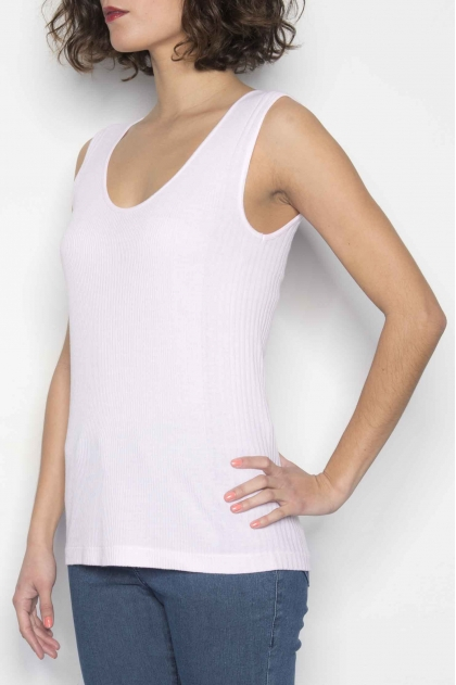 Richelieu knit tank top 85% viscose 15% silk